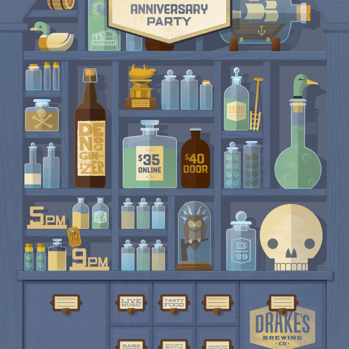 Drake's Brewing 27th Anniversary Poster