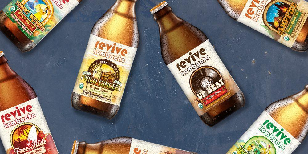Revive Kombucha Bottle Packaging & Design
