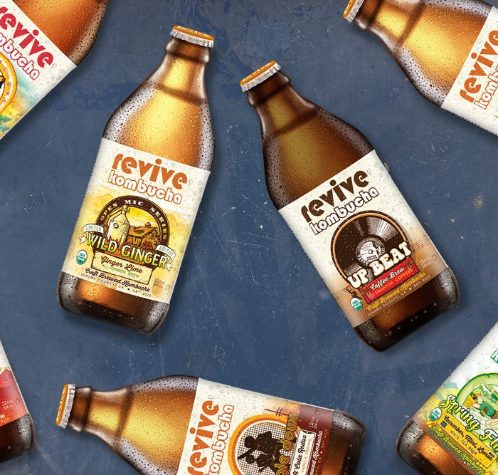 Revive Kombucha Bottle Packaging & Design