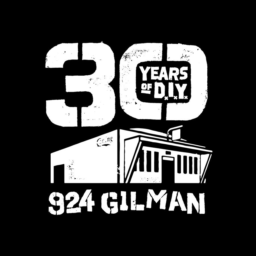 30th Anniversary of 924 Gilman Logo